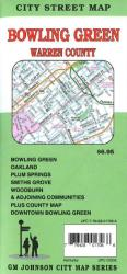 Buy map Bowling Green and Warren County, KY by GM Johnson from Kentucky Maps Store
