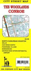 Buy map Woodlands & Conroe, TX by GM Johnson from Texas Maps Store
