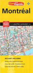 Buy map Montreal, Laminated Street Map by MapArt Corporation from Quebec Maps Store