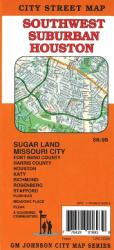 Buy map Houston, Southwest Suburban by GM Johnson from Texas Maps Store