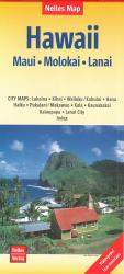 Buy map Maui, Molokai, Lanai, Hawaii by Nelles Verlag GmbH from Hawaii Maps Store