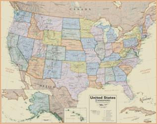 Buy map USA, Boardroom Laminated Wall Map by Round World Products, Inc. from United States Maps Store