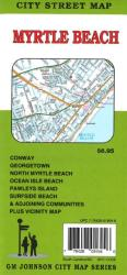 Buy map Myrtle Beach by GM Johnson from South Carolina Maps Store