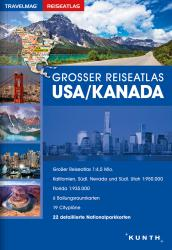 Buy map USA/Canada, Large Travel Atlas (German ed) by Kunth Verlag from United States Maps Store