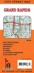 Buy map Grand Rapids, Michigan by GM Johnson from Michigan Maps Store