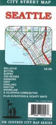 Buy map Seattle, Washington by GM Johnson in Washington Map Store