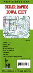 Buy map Cedar Rapids and Iowa City by GM Johnson in Georgia Map Store