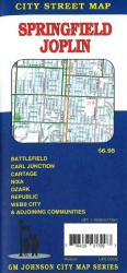Buy map Springfield and Joplin, MO by GM Johnson from Georgia Maps Store