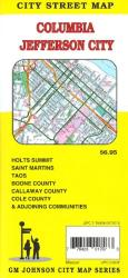 Buy map Columbia and Jefferson City, MO by GM Johnson