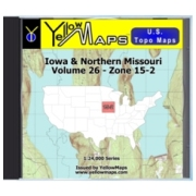 YellowMaps U.S. Topo Maps Volume 26 (Zone 15-2) Iowa & Northern Missouri from Wisconsin Maps Store