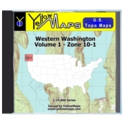 YellowMaps U.S. Topo Maps Volume 1 (Zone 10-1) Western Washington from Oregon Maps Store