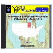 YellowMaps U.S. Topo Maps Volume 25 (Zone 15-1) Minnesota & Western Wisconsin from Michigan Maps Store