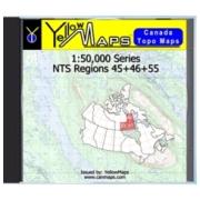 YellowMaps Canada Topo Maps: NTS Regions 45+46+55 from Nunavut Maps Store