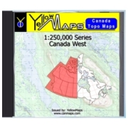 YellowMaps Canada Topo Maps: Canada West from British Columbia Maps Store