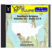 YellowMaps U.S. Topo Maps Volume 14 (Zone 12-5) Southern Arizona from New Mexico Maps Store