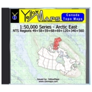 YellowMaps Canada Topo Maps: Arctic East from Nunavut Maps Store