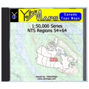 YellowMaps Canada Topo Maps: NTS Regions 54+64 from Manitoba Maps Store