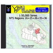 YellowMaps Canada Topo Maps: NTS Regions 16+25+26+35+36 from Nunavut Maps Store