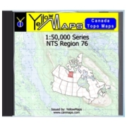 YellowMaps Canada Topo Maps: NTS Regions 76 from Northwest Territories Maps Store