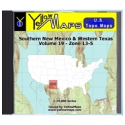 Southern New Mexico & Western Texas map DVD in Digital USGS Topo Map Store