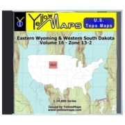 YellowMaps U.S. Topo Maps Volume 16 (Zone 13-2) Eastern Wyoming & Western South Dakota from Nebraska Maps Store
