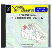 YellowMaps Canada Topo Maps: NTS Regions 106+107+117 from Yukon Maps Store