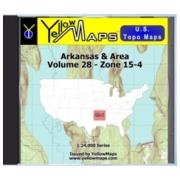 Arkansas & Area map DVD in Digital USGS Topo Map Store