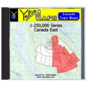 YellowMaps Canada Topo Maps: Canada East from Atlantic Provinces: NB, NS, PE Maps Store