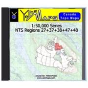 YellowMaps Canada Topo Maps: NTS Regions 27+37+38+47+48 from Nunavut Maps Store