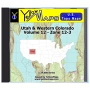 Utah & Western Colorado map DVD in Digital USGS Topo Map Store