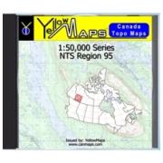 YellowMaps Canada Topo Maps: NTS Regions 95 from Yukon Maps Store