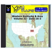 YellowMaps U.S. Topo Maps Volume 32 (Zone 16-3) Western Kentucky & Area from Missouri Maps Store