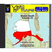 YellowMaps U.S. Topo Maps - Alaska South
