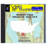Southern Texas map DVD in Digital USGS Topo Map Store
