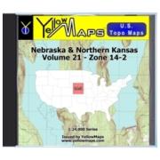 Nebraska & Northern Kansas map DVD in Digital USGS Topo Map Store