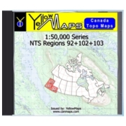 YellowMaps Canada Topo Maps: NTS Regions 92+102+103 from British Columbia Maps Store