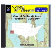 Central California Coast map DVD in Digital USGS Topo Map Store
