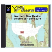 Northern New Mexico map DVD in Digital USGS Topo Map Store