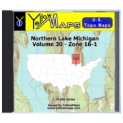 YellowMaps U.S. Topo Maps Volume 30 (Zone 16-1) Northern Lake Michigan from Wisconsin Maps Store