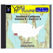 Southern California map DVD in Digital USGS Topo Map Store