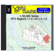 YellowMaps Canada Topo Maps: NTS Regions 1+2+10+11+12 from Atlantic Provinces: NB, NS, PE Maps Store