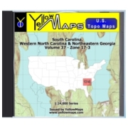 YellowMaps U.S. Topo Maps Volume 37 (Zone 17-3) South Carolina, Western North Carolina & Northeastern Georgia from South Carolina Maps Store