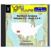 YellowMaps U.S. Topo Maps Volume 13 (Zone 12-4) Northern Arizona from New Mexico Maps Store