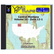 YellowMaps U.S. Topo Maps Volume 10 (Zone 12-1) Central Montana from Idaho Maps Store