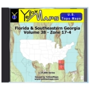 Florida & Southeastern Georgia map DVD in Digital USGS Topo Map Store