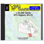 YellowMaps Canada Topo Maps: NTS Regions 40+41 from Ontario Maps Store