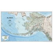 Alaska, laminated in Alaska Map Store