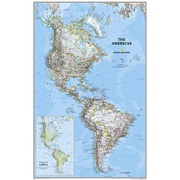The Americas Classic, laminated from Canada Maps Store