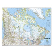 Canada - laminated in Alberta Map Store