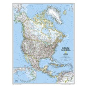 North America Classic, enlarged from Canada Maps Store